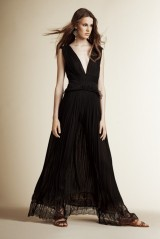Drexcode - Long black dress with V-neck - Alberta Ferretti - Sale - 3