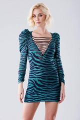 Drexcode - Tiger dress with crosses - For Love and Lemons - Rent - 1