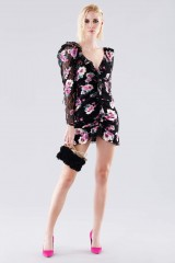 Drexcode - Floral mini dress with lace sleeves - For Love and Lemons - Rent - 1