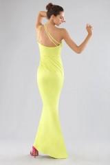 Drexcode - One-shoulder lime dress with details - Forever unique - Rent - 3