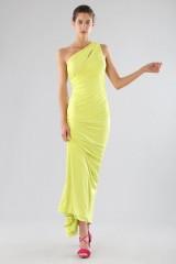 Drexcode - One-shoulder lime dress with details - Forever unique - Rent - 1
