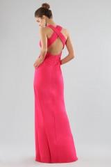 Drexcode - Fuchsia V-neck dress - Forever unique - Rent - 2