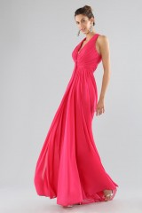 Drexcode - Fuchsia V-neck dress - Forever unique - Rent - 4