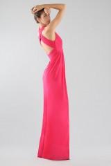 Drexcode - Fuchsia V-neck dress - Forever unique - Rent - 3