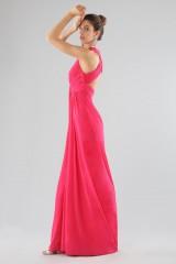 Drexcode - Fuchsia V-neck dress - Forever unique - Rent - 5