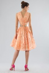 Drexcode - Short peach dress with transparent neckline  - Forever unique - Rent - 4