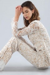 Drexcode - Ivory lace suit with sequins - Forever unique - Rent - 6