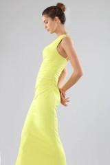 Drexcode - One-shoulder lime dress with details - Forever unique - Rent - 2
