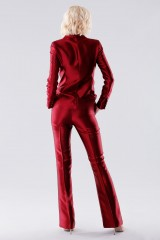 Drexcode - Burgundy satin suit with trousers and double-breasted jacket - Giuliette Brown - Rent - 3