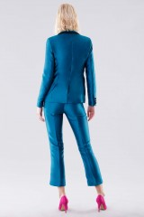 Drexcode - Turquoise satin jacket and trousers - Giuliette Brown - Rent - 3