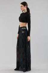 Drexcode - Long checkered skirt with transparencies - Philosophy - Sale - 3