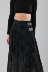 Drexcode - Long checkered skirt with transparencies - Philosophy - Sale - 5