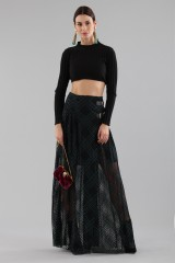 Drexcode - Long checkered skirt with transparencies - Philosophy - Sale - 1