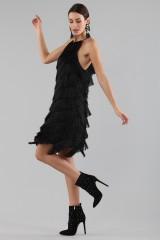 Drexcode - Mini-dress with fringes - Halston - Rent - 11