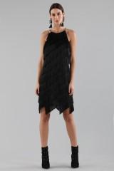 Drexcode - Mini-dress with fringes - Halston - Rent - 10