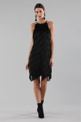 Drexcode - Mini-dress with fringes - Halston - Rent - 7