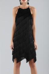 Drexcode - Mini-dress with fringes - Halston - Rent - 6