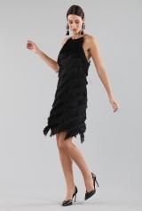 Drexcode - Mini-dress with fringes - Halston - Rent - 5