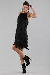 Drexcode - Mini-dress with fringes - Halston - Rent - 3