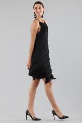 Drexcode - Mini-dress with fringes - Halston - Rent - 8
