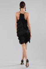Drexcode - Mini-dress with fringes - Halston - Rent - 9