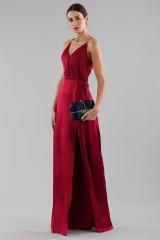 Drexcode - Cherry red satin dress by Halston Heritage - Halston - Rent - 7