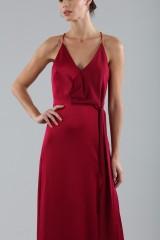 Drexcode - Cherry red satin dress by Halston Heritage - Halston - Rent - 6