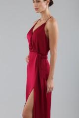 Drexcode - Cherry red satin dress by Halston Heritage - Halston - Rent - 3