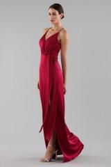 Drexcode - Cherry red satin dress by Halston Heritage - Halston - Rent - 5