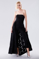 Drexcode - Bustier jumpsuit with overlaid skirt - Halston - Rent - 1