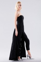 Drexcode - Bustier jumpsuit with overlaid skirt - Halston - Rent - 2