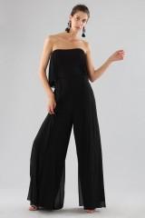 Drexcode - Black bustier jumpsuit - Halston - Rent - 2
