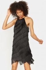 Drexcode - Mini-dress with fringes - Halston - Rent - 2