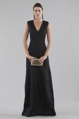 Drexcode - Black dress with shiny texture  - Halston - Rent - 5