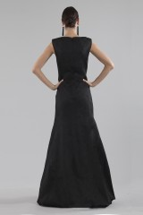 Drexcode - Black dress with shiny texture  - Halston - Rent - 4