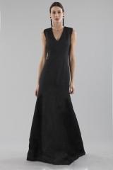 Drexcode - Black dress with shiny texture  - Halston - Rent - 3