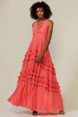 Drexcode - Strawberry dress with ruffles - Halston Heritage - Rent - 6
