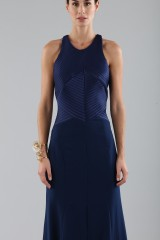 Drexcode - Blue dress with structured top  - Halston - Rent - 5