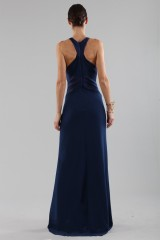 Drexcode - Blue dress with structured top  - Halston - Rent - 2