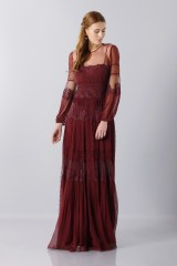 Drexcode -  Lace dress with transparencies - Alberta Ferretti - Rent - 7