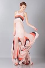Drexcode -  Striped floor-length dress - Blumarine - Sale - 1