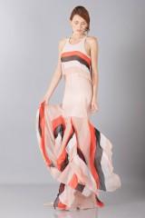 Drexcode -  Striped floor-length dress - Blumarine - Sale - 3