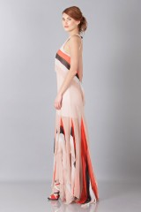Drexcode -  Striped floor-length dress - Blumarine - Sale - 5