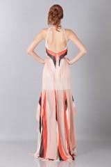 Drexcode -  Striped floor-length dress - Blumarine - Sale - 2