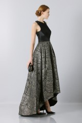 Drexcode - Dress with patterned gold skirt  - Theia - Rent - 4
