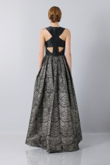 Drexcode - Dress with patterned gold skirt  - Theia - Rent - 2