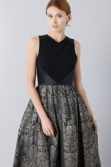 Drexcode - Dress with patterned gold skirt  - Theia - Rent - 5