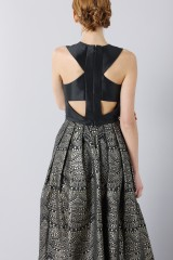 Drexcode - Dress with patterned gold skirt  - Theia - Rent - 6