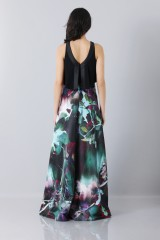 Drexcode - Crop top and floral printed skirt dress  - Theia - Rent - 2