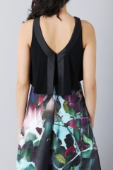 Drexcode - Crop top and floral printed skirt dress  - Theia - Rent - 7